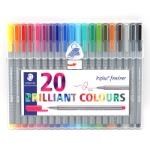 ปากกาหัวเข็ม-Staedtler-20-สี