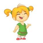 82834061-vector-la-imagen-de-la-historieta-del-color-de-una-niña-linda-niña-con-el-pelo-rubio-niña-en-el-vestido-verde